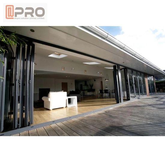 10%Offnew Model Aluminum Glass Folding Patio Exterior Double Bifold Doors