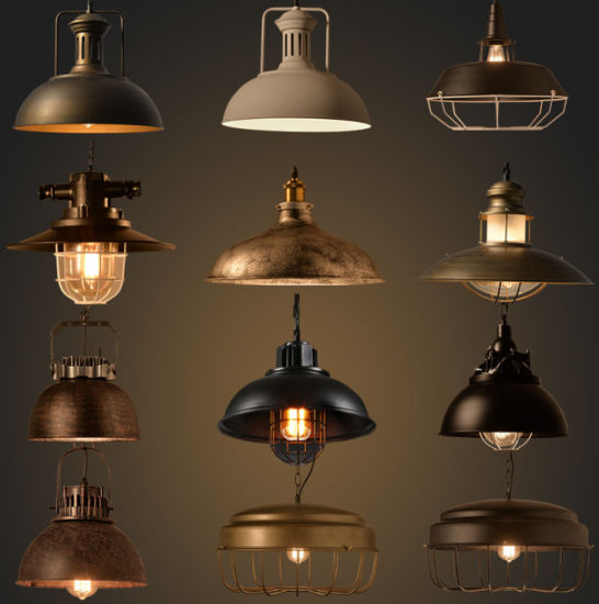 Wholesale Factory Direct Sale Vintage Metal Industrial Style Pendant Lights
