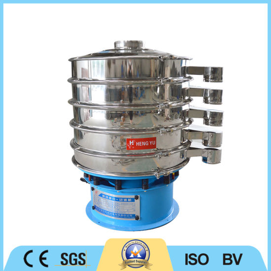 Three Decks Stainless Steel Vibrating Screen Machine for Refined Salt