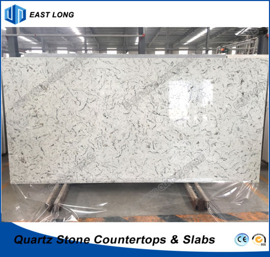 Stone Quartz Slab For Kitchen Countertops Table Tops With Sgs Report Marble Colors