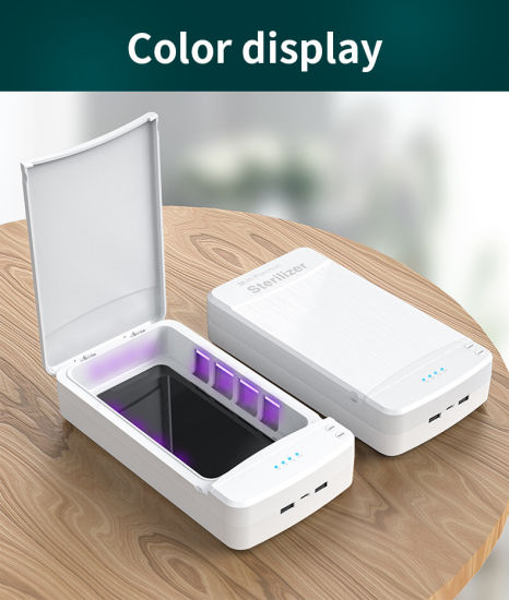 Mask/Jewelry/Toothbrush UV Sterilization Wireless Charging Mobile Phone Disinfection Box