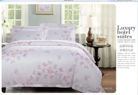 Luxury Home Textile Country Style 100% Cotton Reactive Printing Bedding