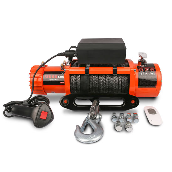 Top Sale 4WD 12V/24V Fast Speed 13000lbs Electric Winch