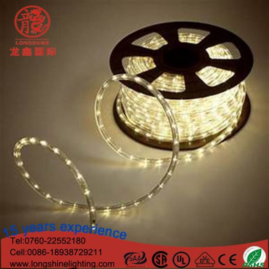 IP65 Warm White LED Rope Light for Christmas Decoration pictures & photos