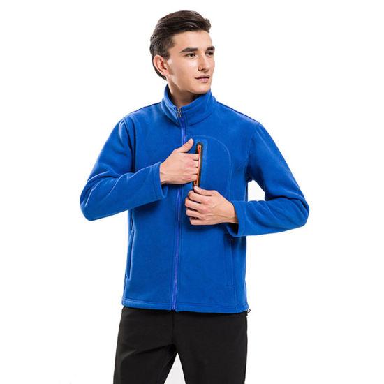 Custom Men's 100 Polyester Polar Fleece Outdoor Jacket
