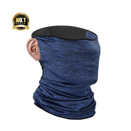 Breathable Cooling Face Sport Turban UV Neck Gaiter Tubular Cooling Bandana Wtih Earloop for Fishing Hunting