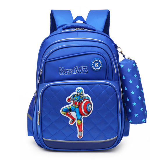 China New Style Durable Boys Girls Backpack Leisure Polyester School ... 9e537d74b4b3a