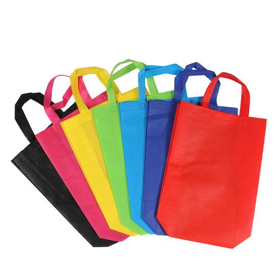 Wholesale Cheap Custom Logo Printing Handbag Eco Friendly Reusable Supermarket Carry Bag Non-Woven Fabric Foldable Tote PP Non-Woven Promotion Shopping Bags
