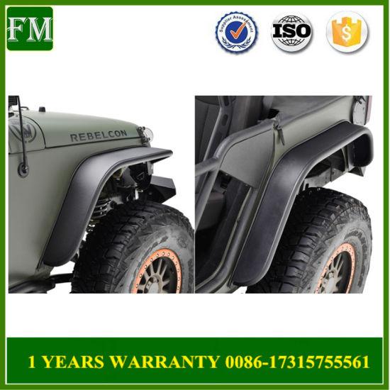 Aluminum Wheel Fender Flare Trims for Jeep Jk External Parts