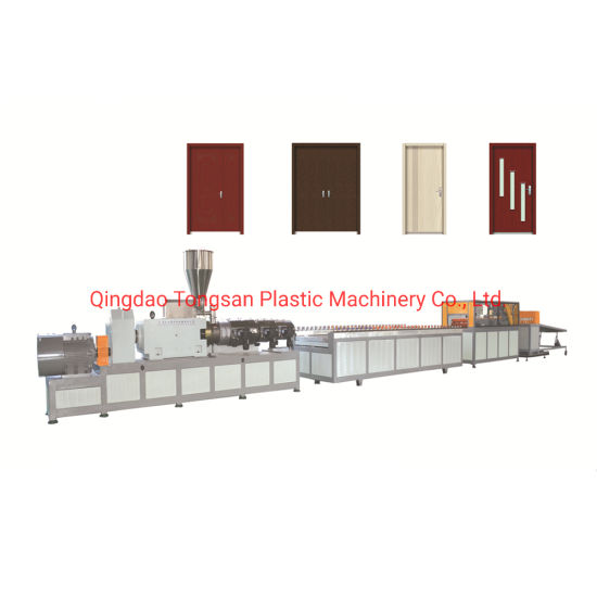 PVC WPC Door Frame Profiles Extruder Wood Plastic Composite Doors Board Panel Making Machine Production Line