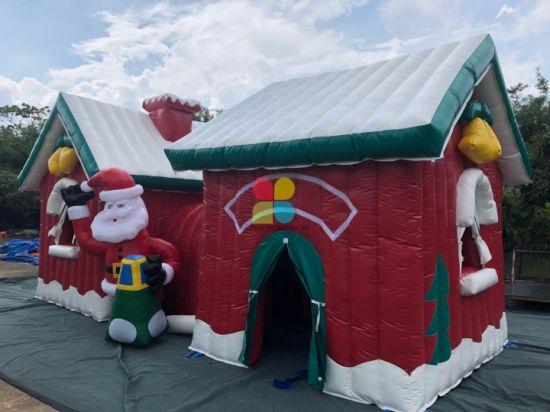 Inflatable Christmas Bouncer Christmas House Christmas Kids Outdoor Games Inflatables