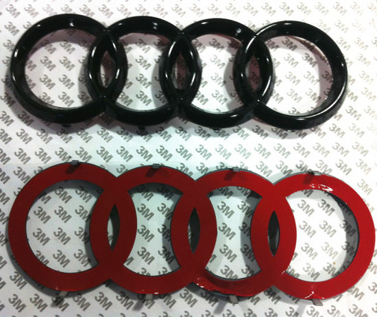 China BLACK REAR BOOT TAILGATE RINGS BADGE EMBLEM For Audi A A S - Audi car emblem
