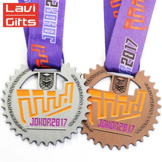 Custom Zinc Alloy Antique Copper Blank Metal Award Sport Championship Karate Medallion Medal and Trophy