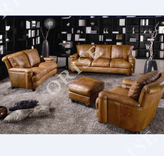 Genuine Leather Sectional Sofa, Vintage Leather Sectional Sofa