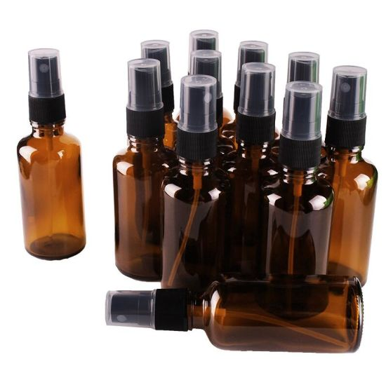07712a34b10e China 50ml Amber Glass Spray Bottle Mist Sprayer Essential Oil ...
