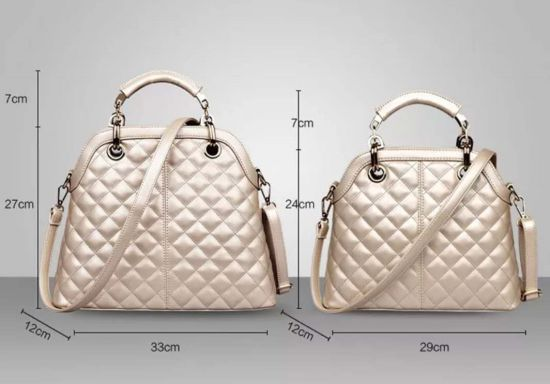 China Designer Embroidery Thread Lady Pu Shell Hand Bag Wholesale