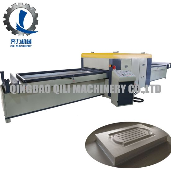 Full Automation Double Seat Vacuum Membrane Hot Press Machine for PVC to Wooden Door