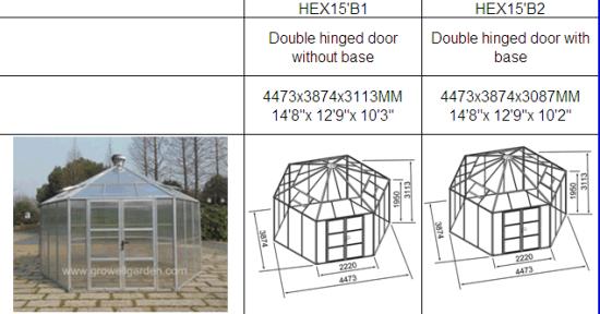 China Premium Titan Greenhoust Hexagonal Greenhouse (HEX15B