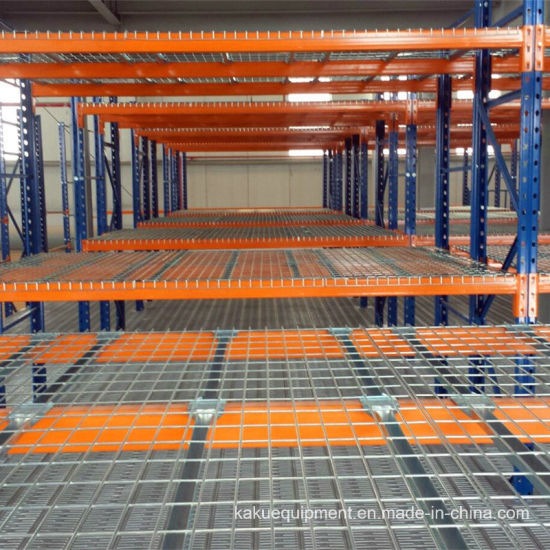 Heavy Duty Warehouse Storage Pallet Rack with Wire Mesh Decking pictures & photos