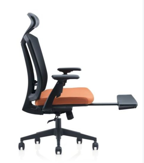 Fashionable Mesh Back Swivel Ergonomic Executive Adjustable Office Chair with Leg Rest Support (HY-267)