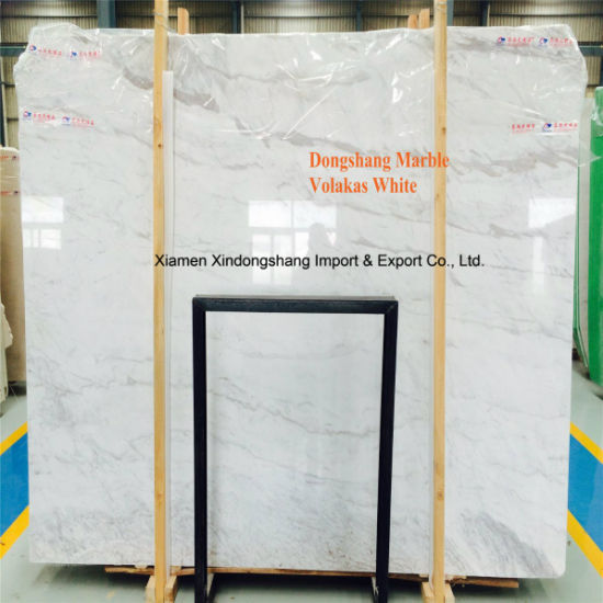 High Quality Volakas/Pirgon White Slabs/Tiles for Walling/Flooring/Countertop/Kitchen/Bathroom/White Marble pictures & photos