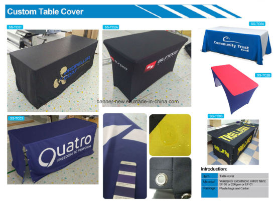 Advertising Stretch Material Printed Table Cover Table Cloth Tablecloth (XS-TC41) pictures & photos