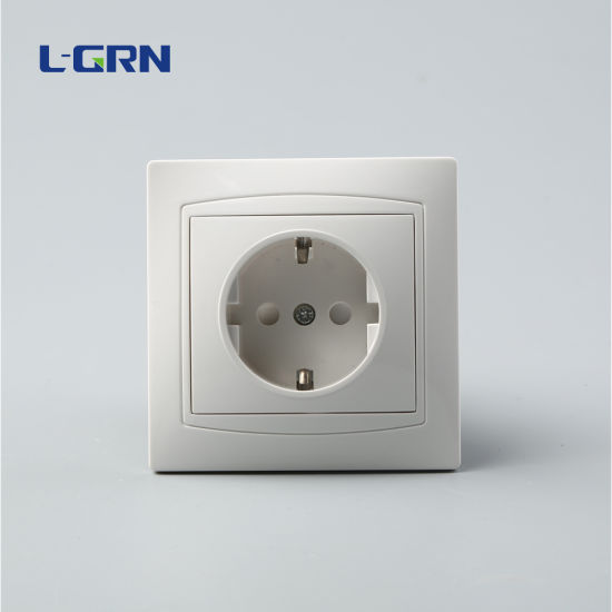 EU 250V 16A Wall Socket PC Material Outlet for Light
