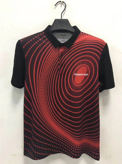 Wholesale Custom Design Sublimation 100% Polyester Spandex Golf Polo Shirt for Men