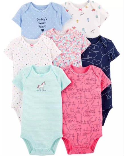 Organic Cotton Baby Girl Romper pictures & photos