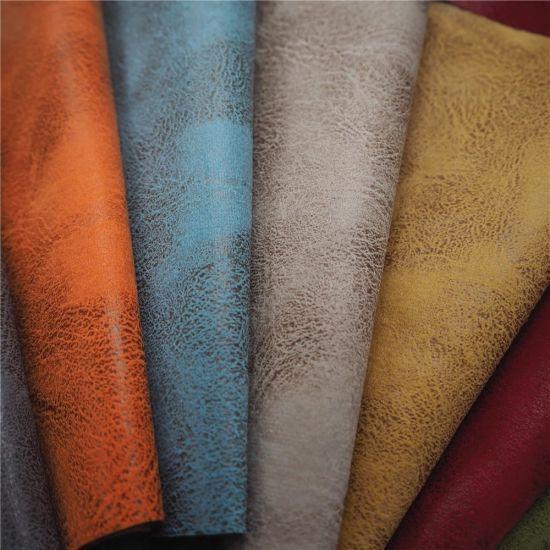 Upholstery Custom Fake Leather Look Bonded Fabric