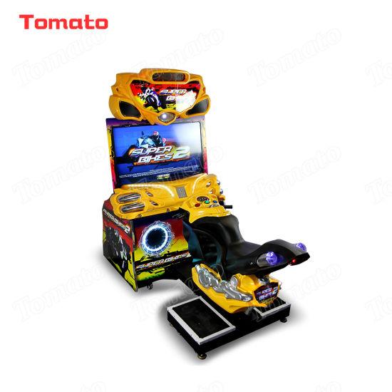 Yellow Super Bikes 2 Motorcycle Racing Indoor Coin Operated Arcade Video Vending Simulator Racing Driving Game Machine