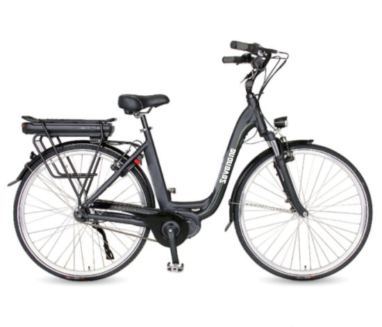 2019 High Performance Center Motor Black Lady City Electric Bicycle with Rack Battery