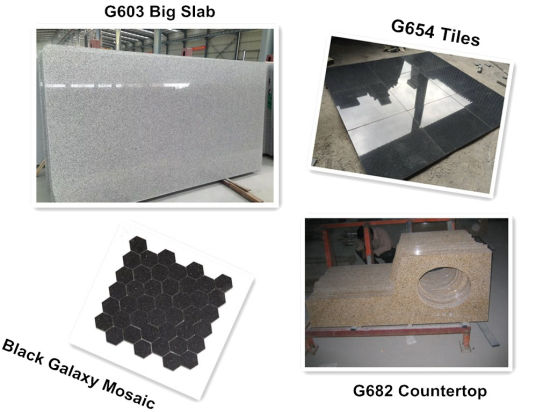 Natural/Cheap/Polished/Flamed G602/G603/G654/G664/G684/G623/G381 Black/Pink/Yellow/Brown/Green/Red/White/Blue/Grey/Stone Granite for Slab/Tile/Countertop/Paving pictures & photos