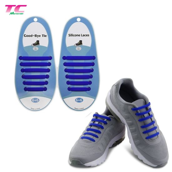Wholesale Silicone Elastic Rubber Lazy Tieless Shoe Laces Gifts for Adults Kids Running pictures & photos