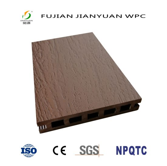 ASA-PVC Co-Extrusion Exterior Wood Plastic Composite WPC Flooring Decking
