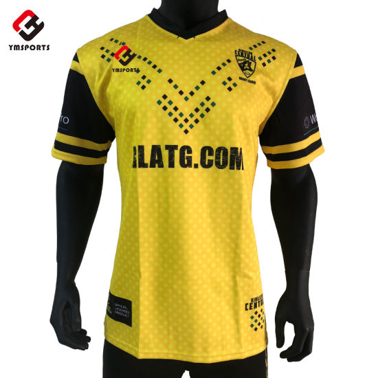 Wholesale Custom Design Rugby Short Sleeves Jersey