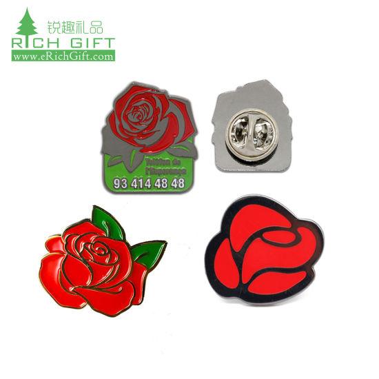 Anti-Going Silk Scarf Buckle Coat Western Ornament Badge Gift-1 Flower Poppy Alloy Brooch