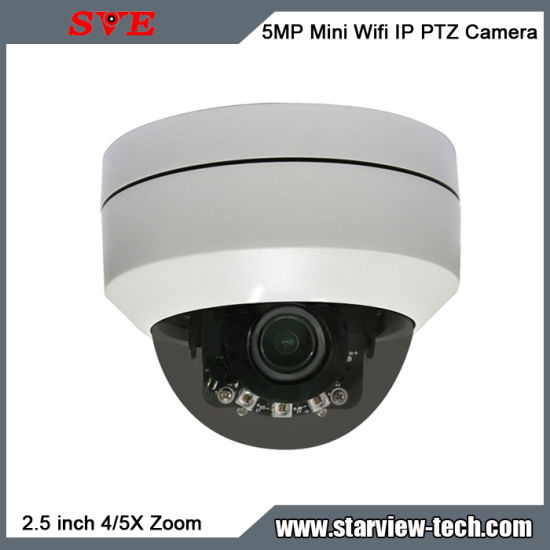 5MP CCTV Mini Waterproof WiFi PTZ Poe Dome IP Camera pictures & photos