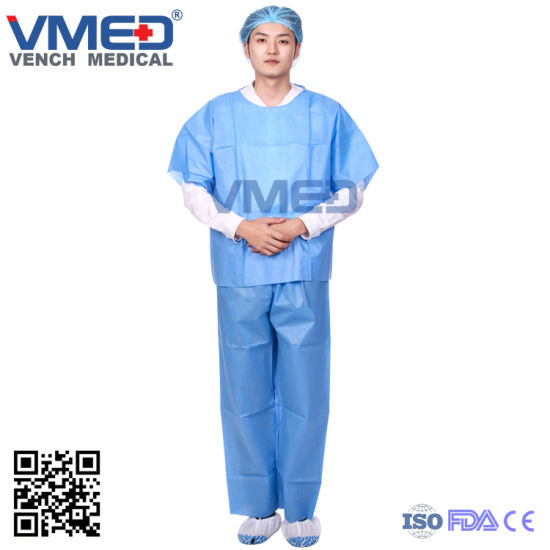 Scrub Suit, Non-Woven Scrub Suits, Polyester Cotton Work Doctors Scrubs, Blue Disposable Scrub Suits, Hospital Scrub Suits, Medical Scrub Suits pictures & photos