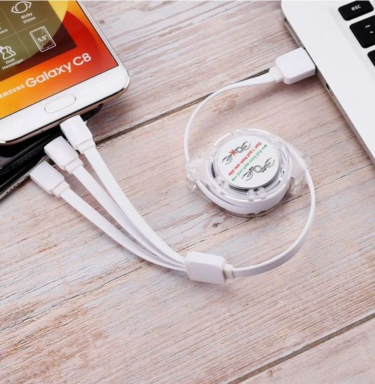 3 in 1 Mobile Charger Multi Charging Cable