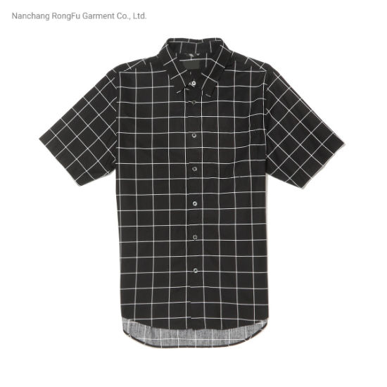 Men's Stylish Plaid Short Sleeve Shirt