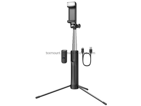 Bluetooth Selfie Stick Tripod Monopod with LED Fill Light for Live Stream
