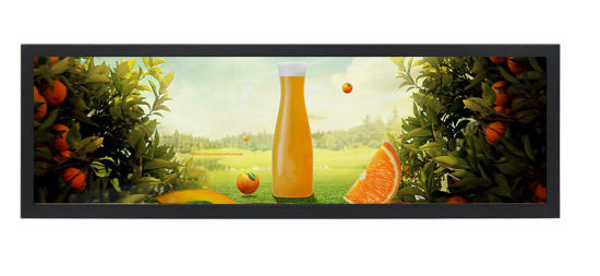 Manufacturer Custom Strip Screen Stretched LCD Bar Screen Advertising Display for Mall/Shelves/ Elevator/Car