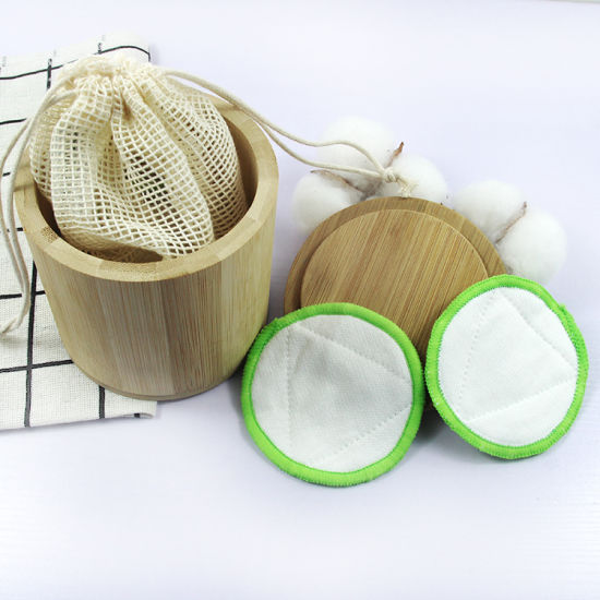 Washable Bamboo Cotton Rounds Makeup up Remover Cleansing Pads