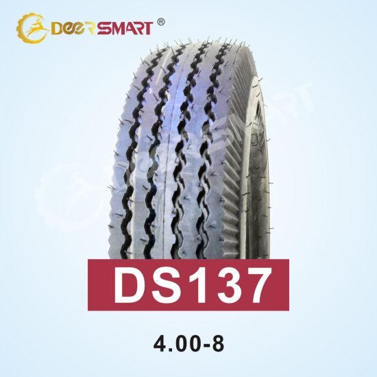 Factory Wholesale Size 4.00-8 Pattern Ds137 Tubeless Motorcycle Tyre