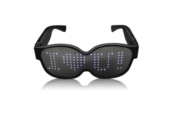 LED Rechargeable Smart Luminous Glasses with Customized Dynamic Patterns