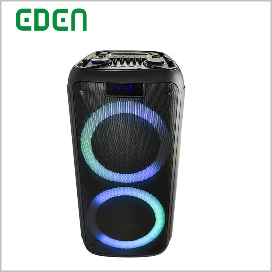 2019 New Jbl Wireless Double 8inch Portable PA Bluetooth DJ Private Speaker with Fashionable Disco LED Light