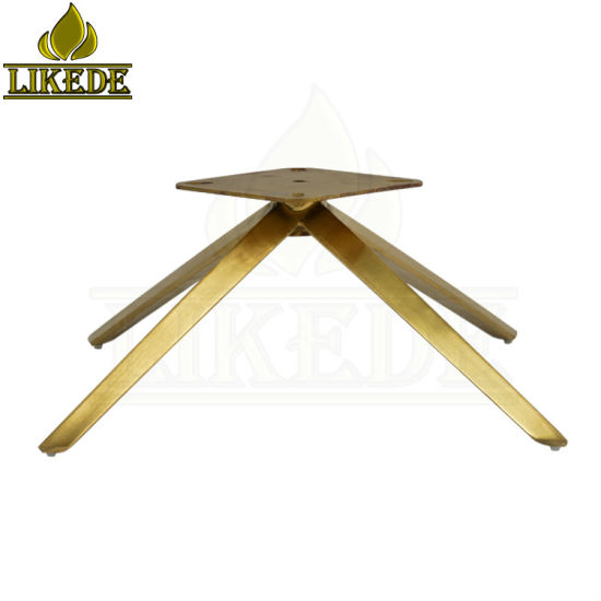 China New Gold Sofa Base Legs Four Star Metal Stainless Steel Swivel Rotating Chair Leg Brass Chair Base China Stainless Steel Chair Base Swivel Chair Base