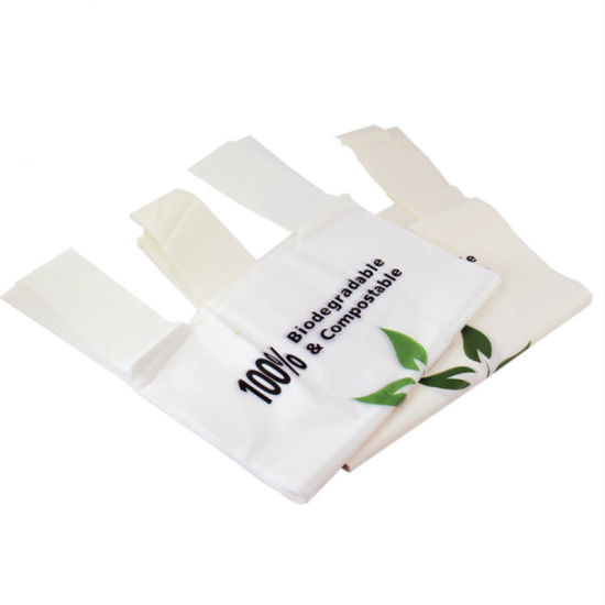 Ok Compost Home 100% Biodegradable Compostable Plastic T-Shirt Shopping Biobag