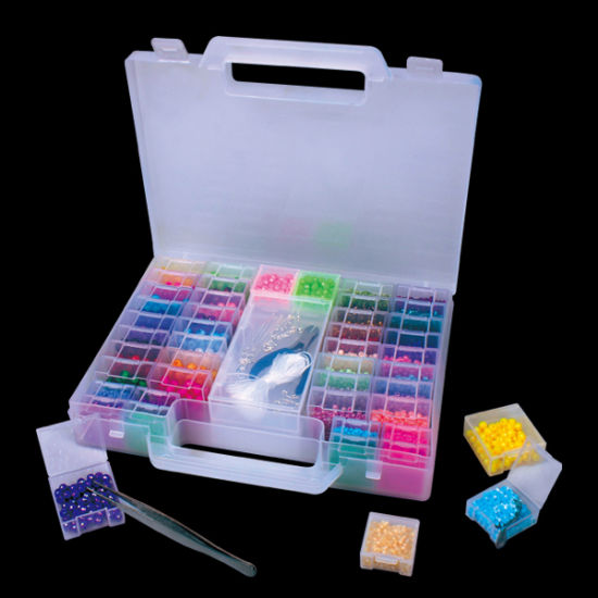 29507 New Customized Clear Plastic Jewelry Making and Bead Storage Box with Dividers